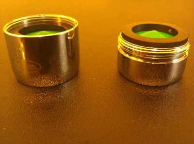 Male and female faucet aerators