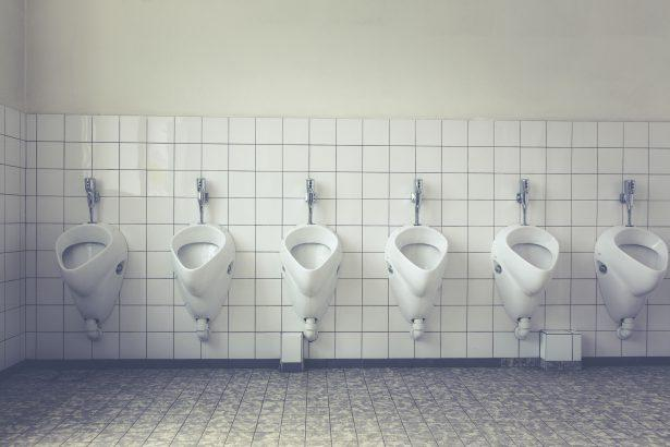 Toilet pipes, public toilet urinals