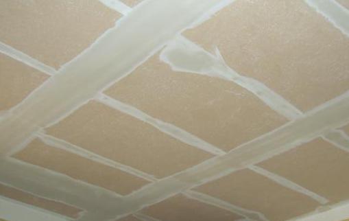 Drywall on ceiling