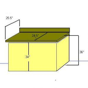 Standard Kitchen Counter And Cabinet Measurements Diy Home Repair