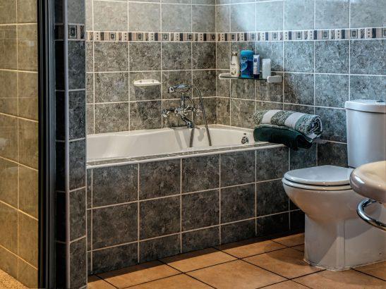 Bathtub and toilet